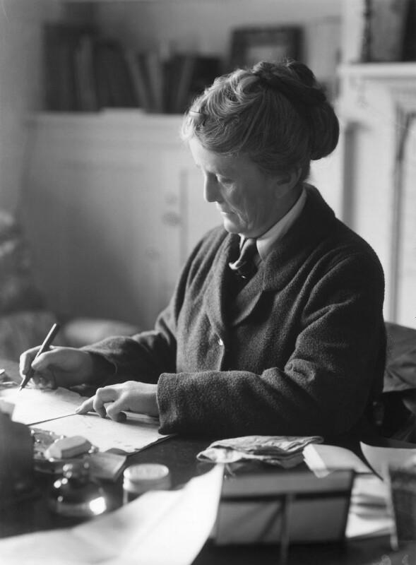 Image of Ethel Smyth writing. © National Portrait Gallery